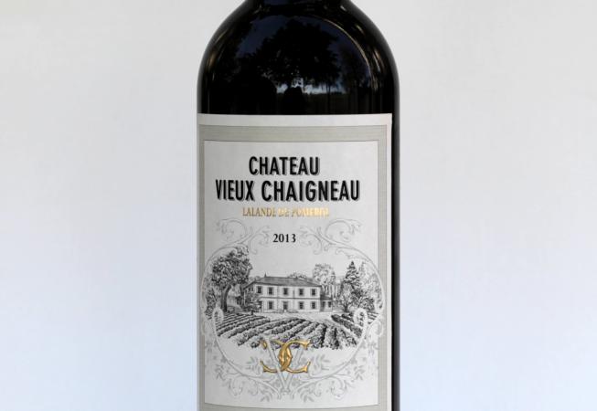 Bouteille de Château Vieux Chaigneau 2013 vue de face