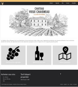 Nouvelle page d'accueil du site